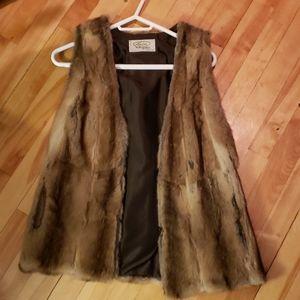 Fox vest of fur